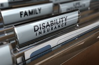 photo of disability insurance folders